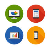 Responsive Design. Flat Icons Set. Vector Stock Image