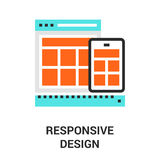 Responsive design icon Royalty Free Stock Photo