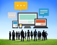 Responsive Design Internet Communication Technology Concept Royalty Free Stock Photos