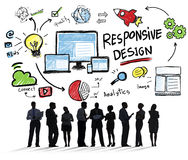 Responsive Design Internet Web Online Business Communication Con Stock Photography