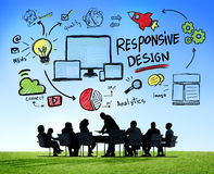 Responsive Design Internet Web Online Business Meeting Concept Stock Photo