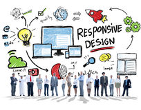 Responsive Design Internet Web Online Business People Concept Stock Images