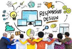 Responsive Design Internet Web Online People Friendship Concept royalty free stock images