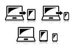 Responsive design - laptop, tablet, smarthone  icons Stock Images
