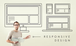 Responsive Design Layout Connection Content Concept Royalty Free Stock Photography