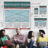 Responsive Design Layout Content Concept.  stock photography