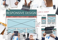 Responsive Design Layout Content Concept Royalty Free Stock Images
