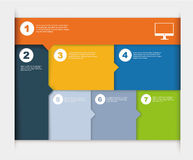 Responsive design layout. In different colors Stock Photos