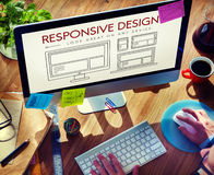 Responsive Design Layout Webpage Template Concept Stock Photos