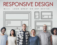 Responsive Design Layout Webpage Template Concept Royalty Free Stock Photos