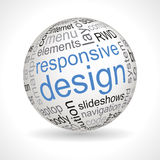 Responsive design theme sphere with keywords Stock Photo