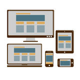 Responsive design for web Royalty Free Stock Photo