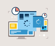 Responsive design, website optimization Stock Images