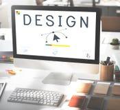 Responsive Design Website Template Layout Concept Stock Photos