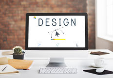 Responsive Design Website Template Layout Concept Stock Photography