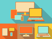 Responsive devices, illustration in retro style Stock Images
