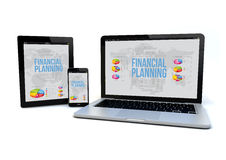 Responsive financial planning concept Royalty Free Stock Photography