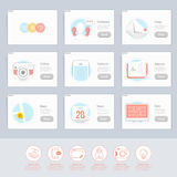 Responsive flat UI Icons elements for templates Royalty Free Stock Image