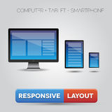 Responsive layout Royalty Free Stock Image