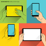 Responsive Mobile Devices Stock Photos