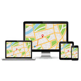 Responsive navigation web design concept Stock Photos