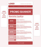 Responsive newsletter template with banners. And text royalty free stock photography