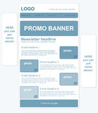 Responsive newsletter template with banners Royalty Free Stock Photos