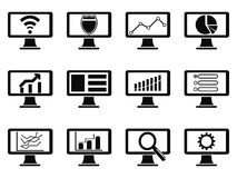 Responsive screen design icon Stock Photography