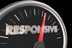 Responsive Speedometer Fast Service Attention Royalty Free Stock Photos