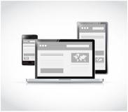Responsive technology illustration design Stock Image