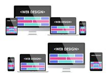 Responsive web design. Adaptive user interface.   Royalty Free Stock Photos