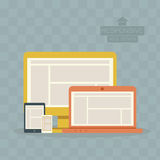 Responsive Web Design. On bule background Royalty Free Stock Images