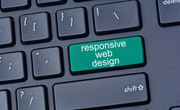 Responsive web design on computer keyboard Royalty Free Stock Photos