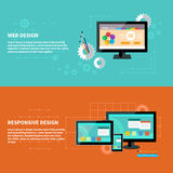 Responsive and web design concept Stock Photos