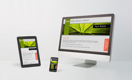 Responsive web design. Stock Photos