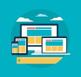 Responsive web design concept illustration Royalty Free Stock Photography