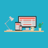 Responsive Web Design Concept. Vector Stock Photo