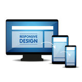 Responsive web design concept vector Stock Photo
