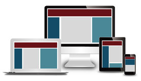 Responsive web design Stock Photo