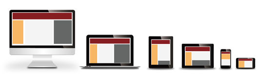 Responsive web design. On devices Royalty Free Stock Photography