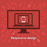 Responsive web design. On different devices Stock Image