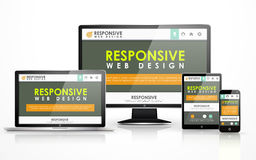 Responsive web design in different devices Royalty Free Stock Photography