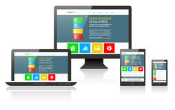 Responsive web design on different devices Royalty Free Stock Photos