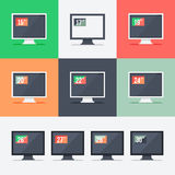 Responsive web design on different monitors Stock Image