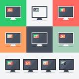 Responsive web design on different monitors Stock Image