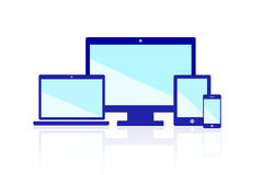 Responsive Web Design Flat Icon Group Illustration Royalty Free Stock Photo
