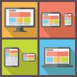 Responsive web design. Flat style vector vector illustration