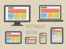 Responsive web design. Flat style vector Stock Image