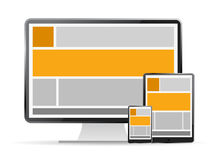 Responsive web design Royalty Free Stock Image