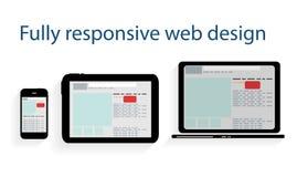 Responsive web design icon. Vector Illustration Stock Photography
